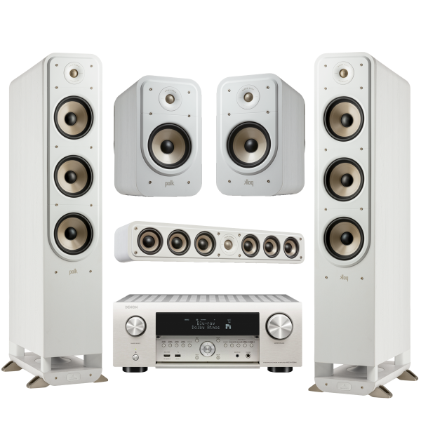 Denon Heimkino Set2 weiß - AVC-X 4700H, ES20, ES35, ES60