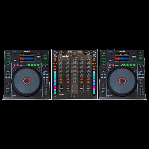 Gemini DJ Set - MDJ-900 + PMX-20