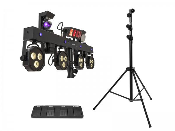Eurolite Set LED KLS Scan Next FX Kompakt-Lichtset + Fußschalter + Stativ