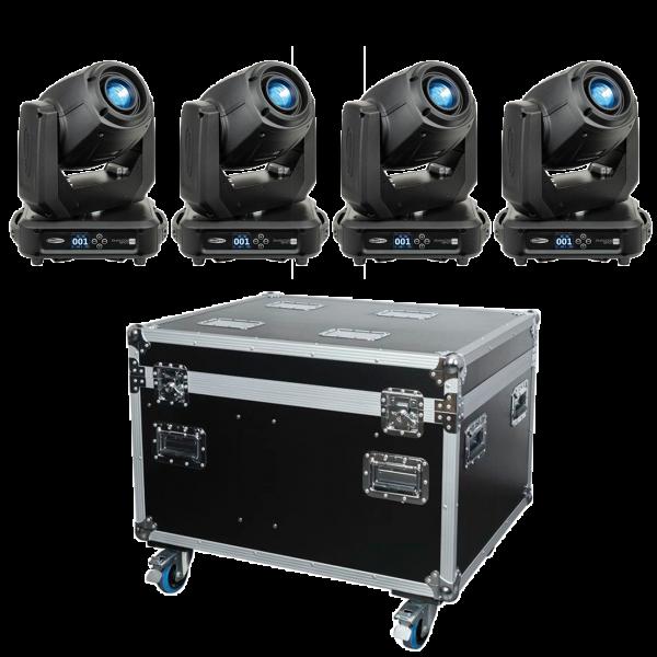 Showtec Set1 - 4 x Phantom 100 Spot + Case