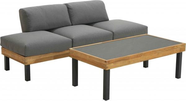 Ploß Design-Sofa SKAGEN + Couchtisch 125x65x40 cm
